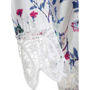 Lace Insert Off The Shoulder Floral Top -