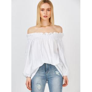 Long Sleeves Off The Shoulder Blouse -