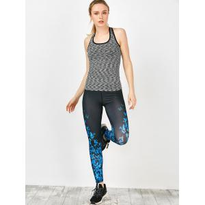 Butterfly Pattern Exercise Running Leggings -