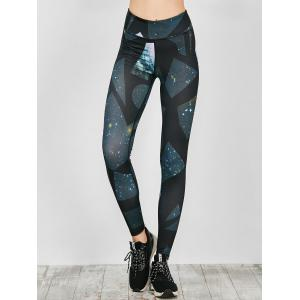 Geometric Galaxy Print Active Leggings