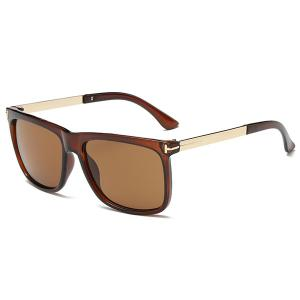 Rectangle Frame Anti UV Wayfarer Sunglasses - Transparent Tawny Frame + Tawny Mercury Lens