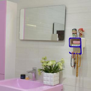 Creative Number Shape Bathroom Wall Shelf - BLUE