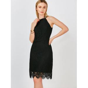 Backless Sleeveless Lace Party Dress -