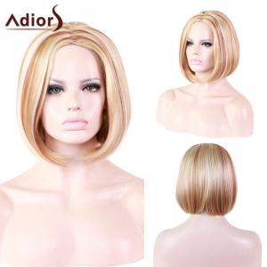 Adiors Zig Zag Part Hightlight Silky Straight Short Bob Synthetic Wig