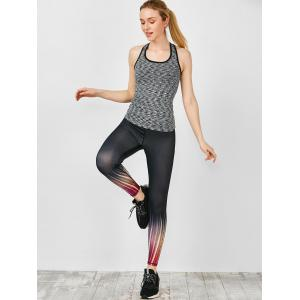 Ombre Printed Fitness Leggings -