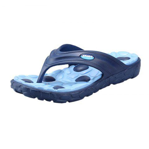 Fashion Color Block Massage Cobblestone Flip Flops - 43 BLUE Mobile