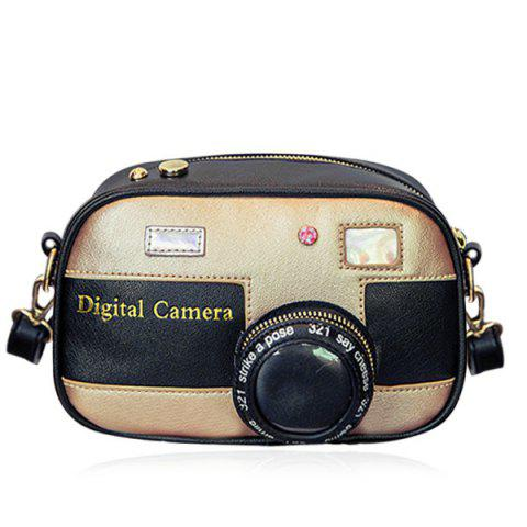 Shop Cross Body Camera Shaped Funny Bag GOLDEN