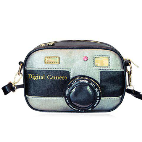 Cross Body Camera Shaped Funny Bag - Silver - 18*18inch