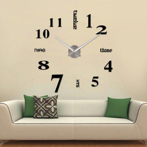 Outfits Home Decor DIY Analog Number Wall Clock - BLACK  Mobile