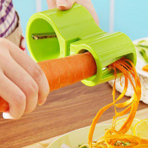 New Multifunction Vegatable Spiral Grater with Grindstone - GREEN  Mobile
