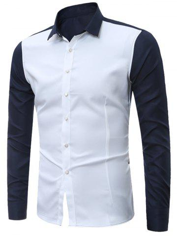 Fancy Long Sleeves Two Tone Shirt