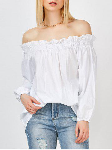 Outfit Long Sleeves Off The Shoulder Blouse