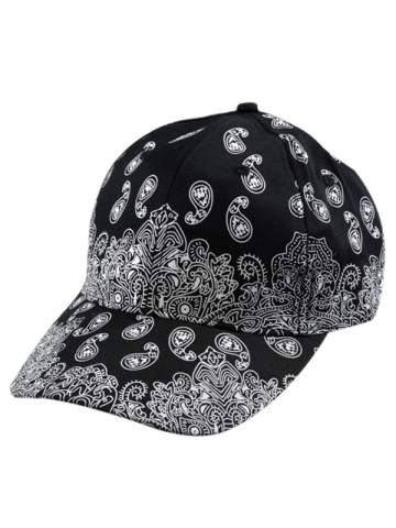 New Floral Printed Baseball Cap BLACK ONE SIZE