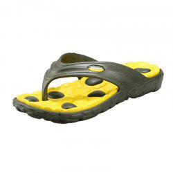 Color Block Massage Cobblestone Flip Flops - YELLOW AND GREEN 43