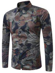 Flowers Print Long Sleeve Shirt