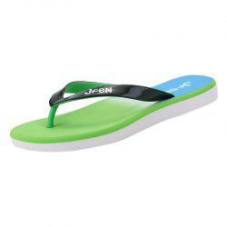 Color Block Letter Pattern Flip Flop Design Slippers