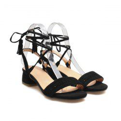 Tassels Lace Up Sandals