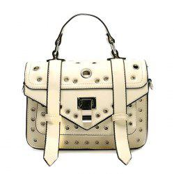 Eyelets Faux Leather Handbag