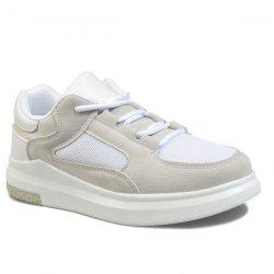 Colour Block Mesh Athletic Shooes - LIGHT GRAY
