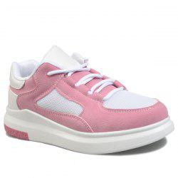 Colour Block Mesh Athletic Shooes - PINK