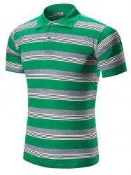 Striped Half Button Polo Shirt
