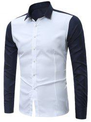 Long Sleeves Two Tone Shirt -