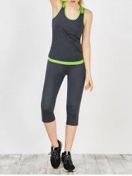 Cutout Tank Top and Capri Sports Leggings