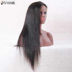 Siv Hair Long Middle Part Straight Lace Front Human Hair Wig