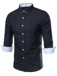 Long Sleeves Button Down Pocket Shirt
