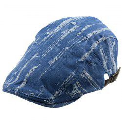 Outdoor Frayed Denim Newsboy Hat