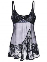 Empire Waist Lace Panel Babydoll