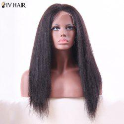 Siv Hair Long Lace Front Yaki Straight Human Hair Wig
