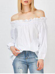 Long Sleeves Off The Shoulder Blouse