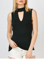 Keyhole Neck Cut Out Tank Top
