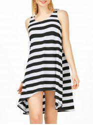 Striped High Low Mini Tank Dress