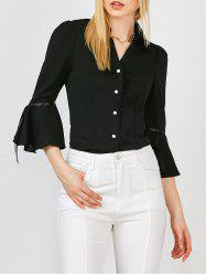 Bell Sleeve Button Up Blouse