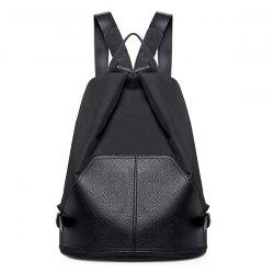 PU Leather Panle Buckles Backpack