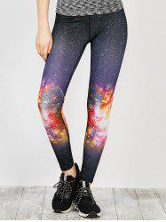 Light Galaxy Printed Running Leggings
