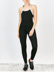 Two Tone Cut Out Workout Jumpsuit