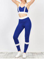 Padded Bra With Two Tone Sports Leggings