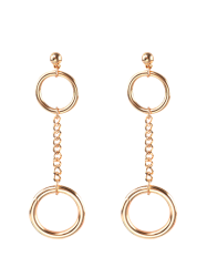 Alloy Chain Circle Drop Earrings