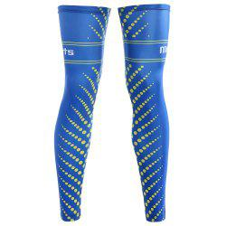 Polka Dot Striped Zipper Reflective Cycling Leg Sleeves