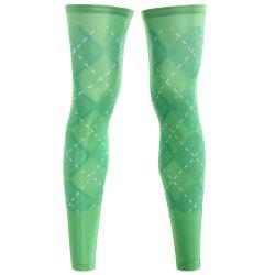 Geometric Zipper Reflective Cycling Leg Sleeves