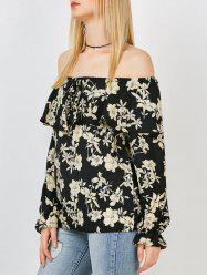 Floral Off The Shoulder Chiffon Top