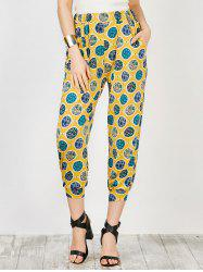 Pockets Printed Trapeze Pants