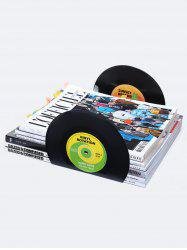 2Pcs/Set Record Shaped Vinyl Bookends