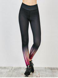 Ombre Printed Fitness Leggings