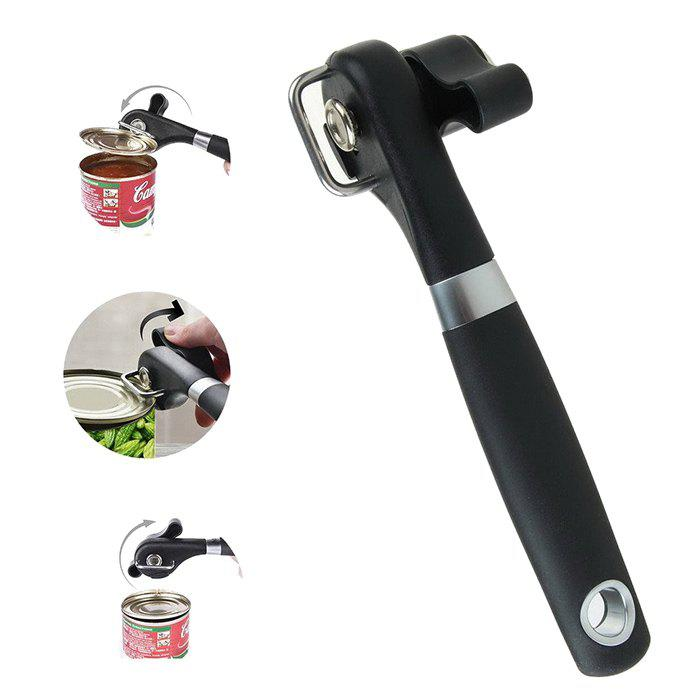 Multifunction Food Can Manual Can OpenerHOME<br><br>Color: BLACK; Type: Other; Material: Metal,Plastic; Weight: 0.1350kg; Package Contents: 1 x Can Opener;