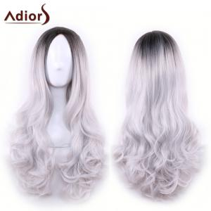 Adiors Long Middle Part Gradient Wavy Synthetic Cosplay Lolita Wig