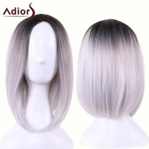 Adiors Straight Middle Part Ombre Medium Bob Cosplay Lolita Wig